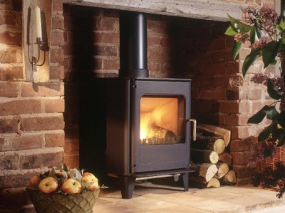indoor fire log burner