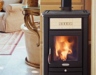 log burner stove
