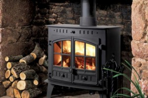 open wood burner